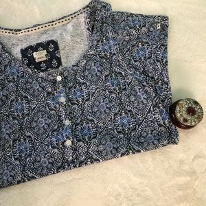 Lucky Brand Blue Patterned Tank top